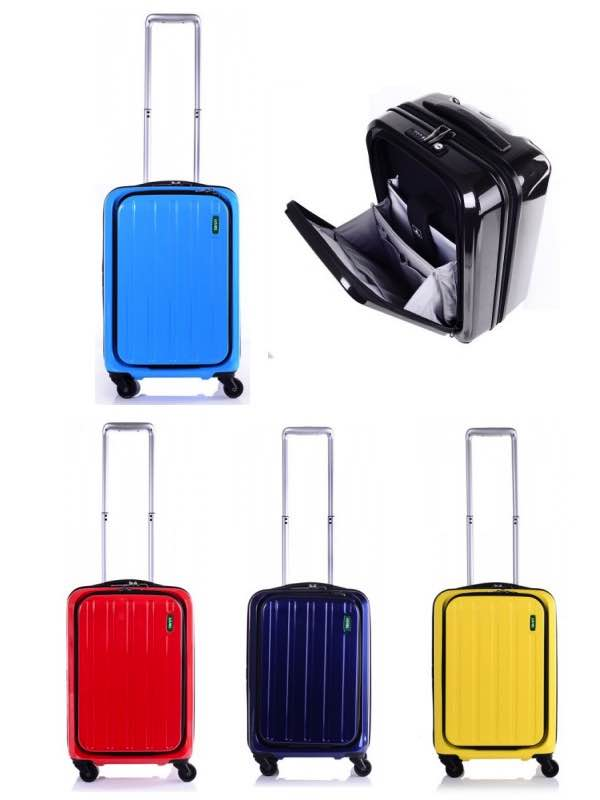 55cm 4 Wheel Carry-On Lucid : With Front Opening Door : Lojel